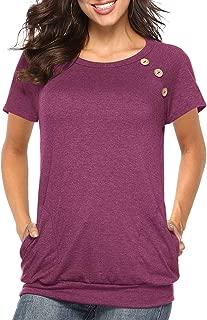 Best women's short sleeve shirts blouse Reviews