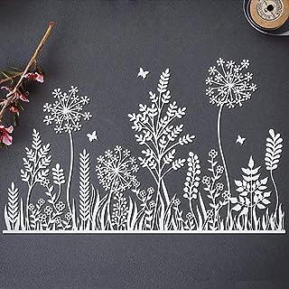 YunTrip Matrices de découpe en métal pour la fabrication de cartes, arbre à fleurs, herbe à fleurs, pochoir pour bricolage...