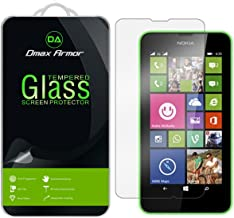 Dmax Armor for Nokia Lumia 635/630 Screen Protector, [Tempered Glass] 0.3mm 9H Hardness, Anti-Scratch, Anti-Fingerprint, Bubble Free, Ultra-clear
