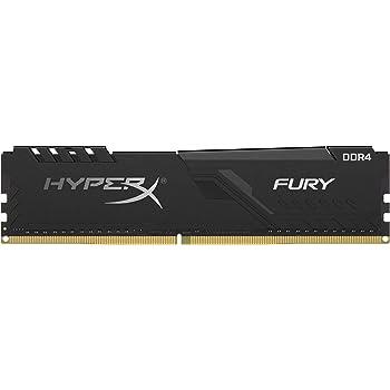 HyperX Fury 8GB 2666MHz DDR4 CL16 DIMM 1Rx8 Black XMP Desktop Memory Single Stick HX426C16FB3/8