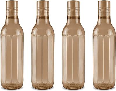Milton Prism Pet Water Bottle, Set of 4, 1000 ml, Brown