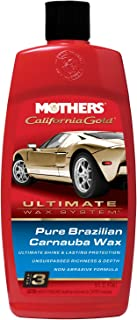 Mothers 05750-6 California Gold Pure Brazilian Carnauba Liquid Wax (Ultimate Wax System, Step 3) - 16 oz, (Pack of 6)