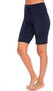 Etuoji Women Solid Stretch Board Shorts Cycling Gym Running Yoga Swimming Shorts