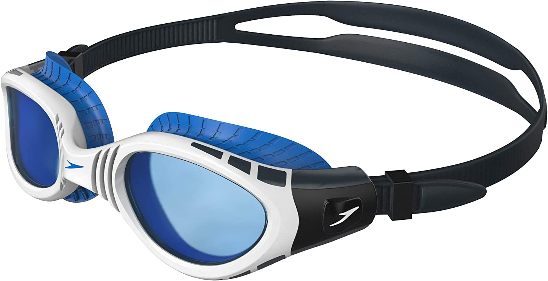 Speedo Futura Biofuse Flexiseal Gafas de Natación, para mujeres, Blanco/Azul, Talla Única