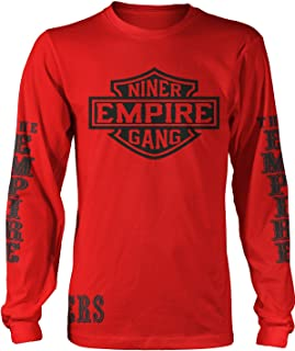 Millionaire Mentality Niner Empire Gang Long Sleeve Red & Black Long Sleeve T-Shirt (X-Large)