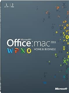【旧商品】Microsoft Office for Mac Home and Business 2011-2 パック [パッケージ] (PC2台/1ライセンス)