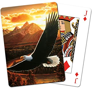 Tree-Free Greetings Deck of Playing Cards, 2.5 x 0.8 x 3.5 Inches, Soaring Eagle  (CD15281)