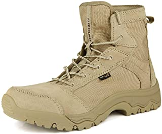 FREE SOLDIER Men's Work Boots 6 inch Lightweight Breathable Military Tactical Desert Boots for Hiking