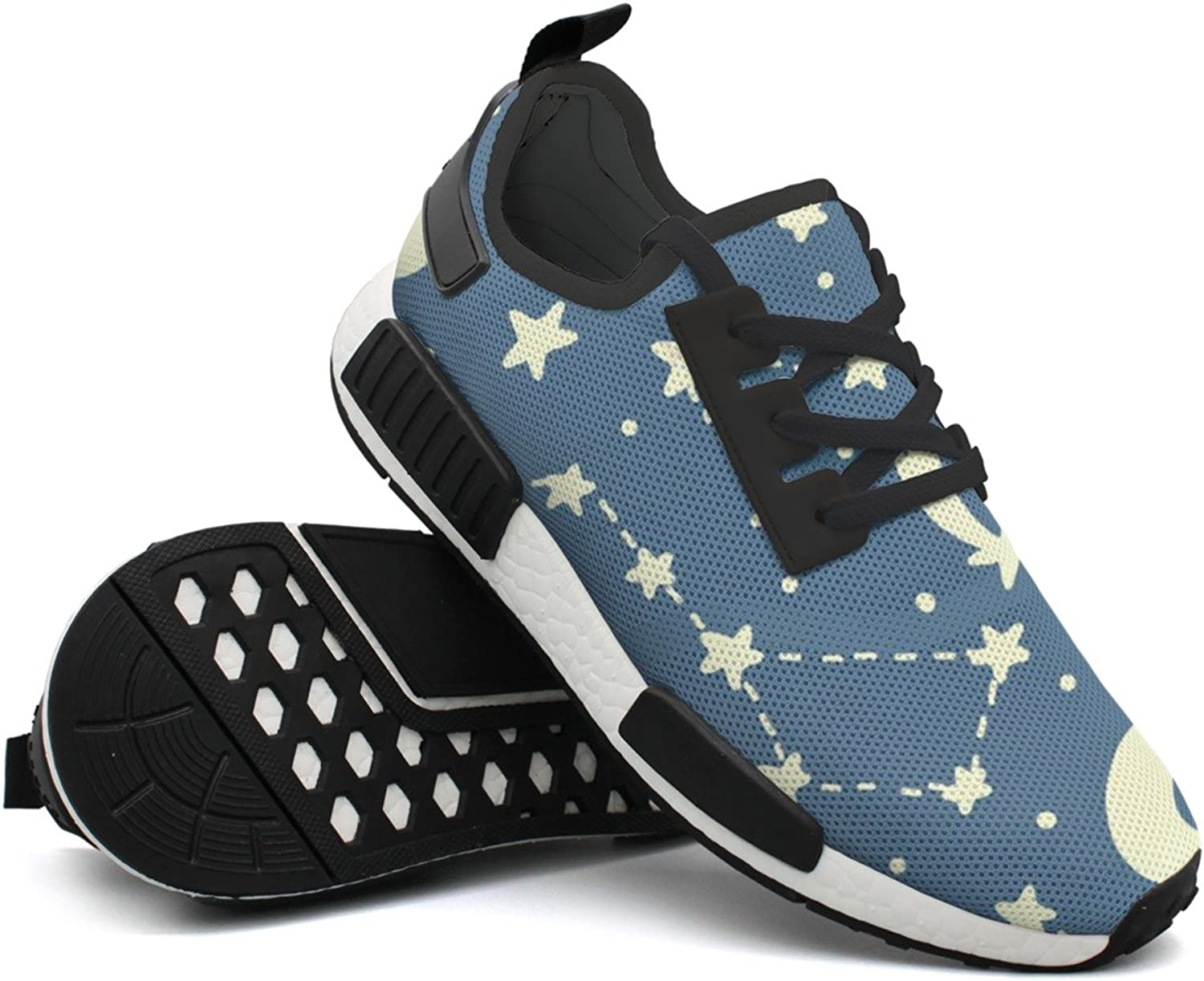 Fashion Sneakers For Men Constellation Galaxy Pattern Rendy Lightweight Breathable Mesh Mens Gym shoes