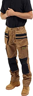SITE KING Mens Multi Pocket Cargo Combat Work Trousers with Holster Pockets