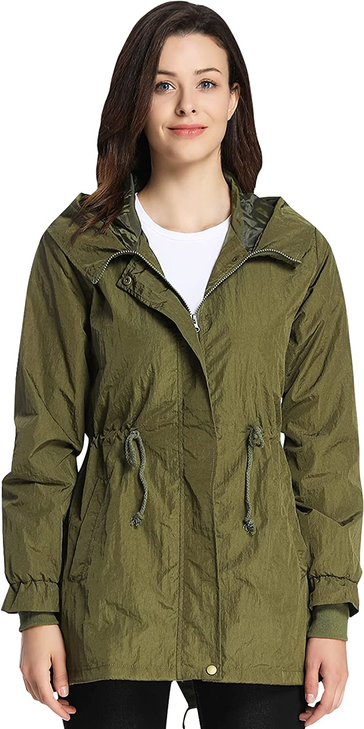4How Women's San Antonio Mall Military Anorak Jacket Waterpr with Online limited product Drawstring Hood