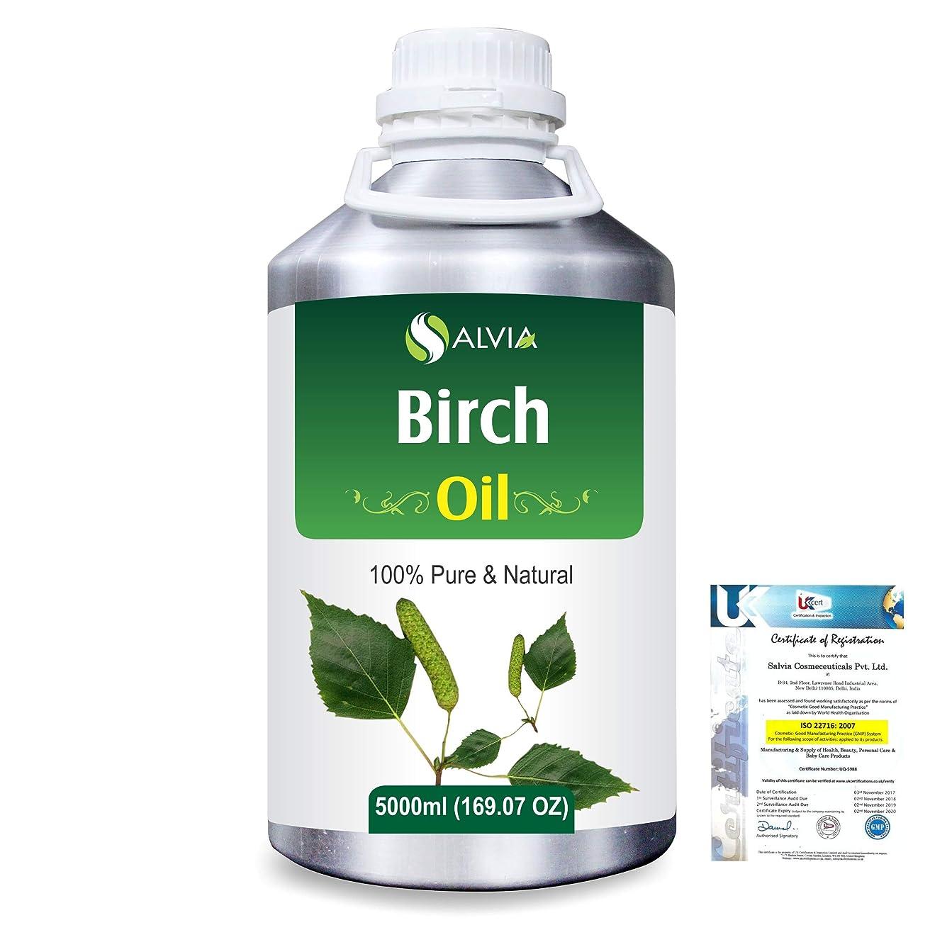 気候荷物清めるBirch (Betula Pendula,Betula Alba) 100% Natural Pure Essential Oil 5000ml/169fl.oz.