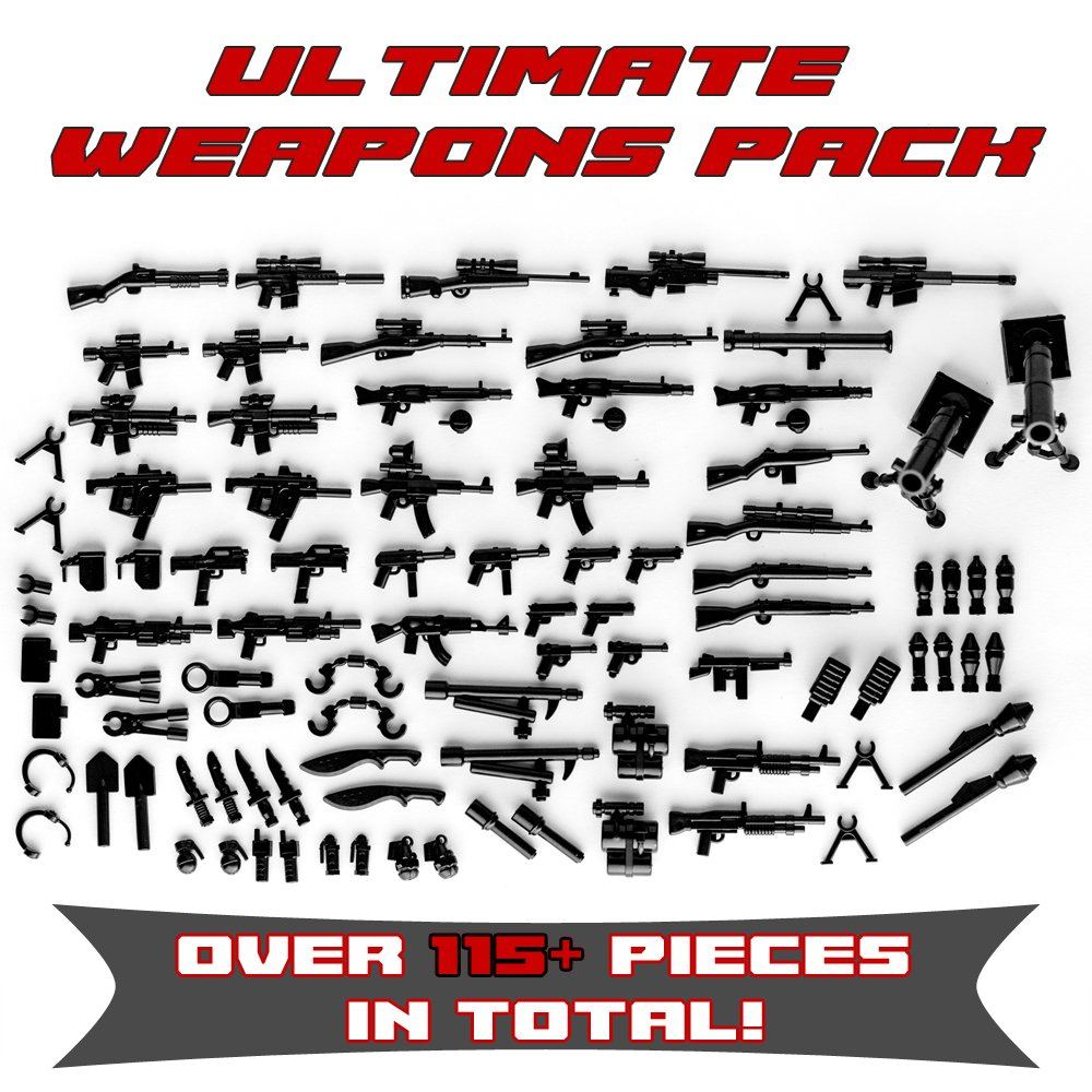 Ultimate Weapons Accessories Custom Minifigures