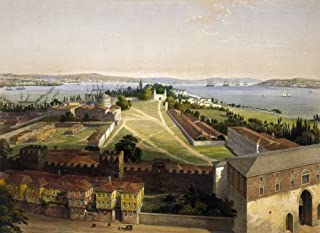 Turkey Istanbul 1852 Nview Of Istanbul (Constantinople) Showing The Hagia Eirene Center Left The Treasury And The Walled G...