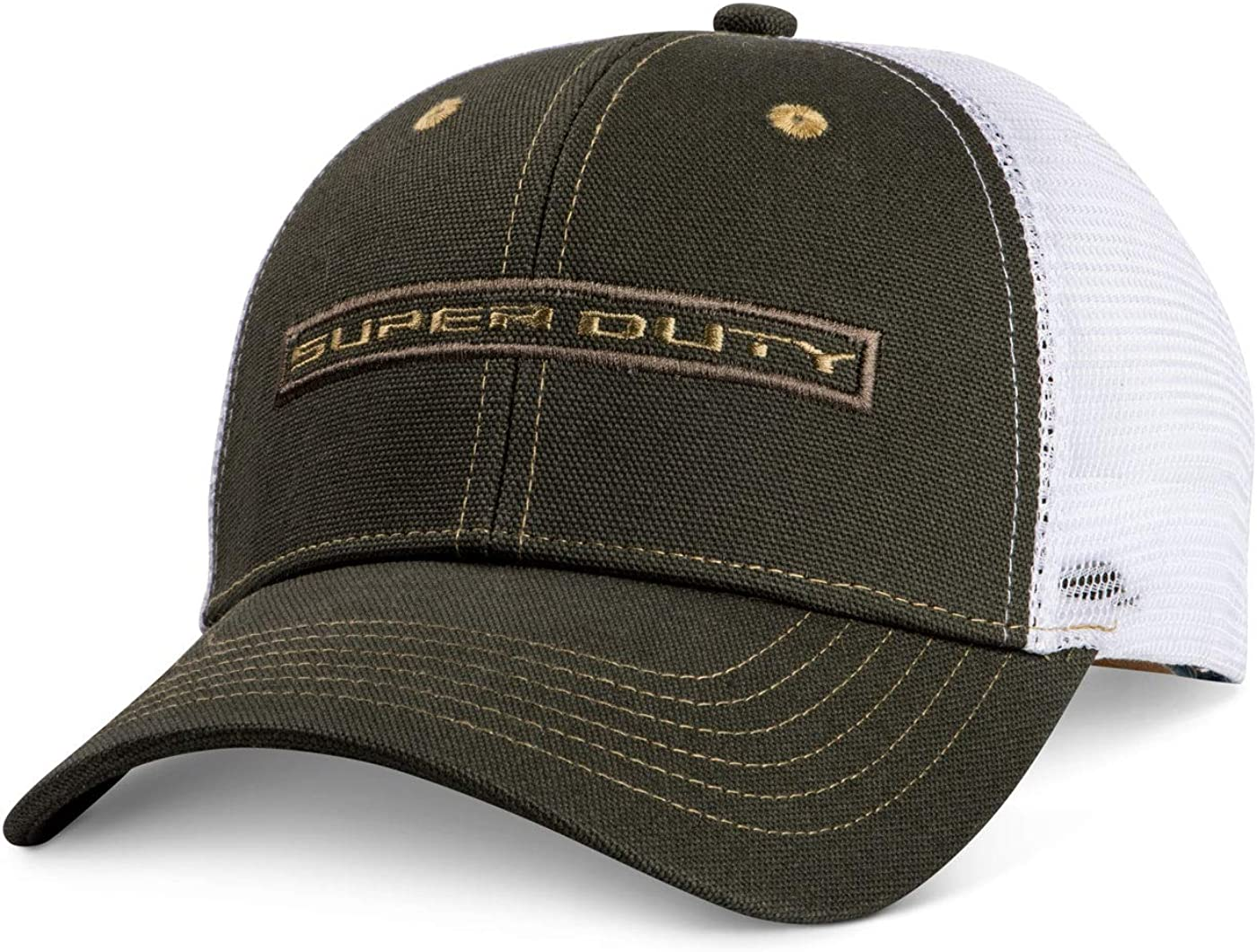 A-G-D Super Duty Olive and White Mesh Hat