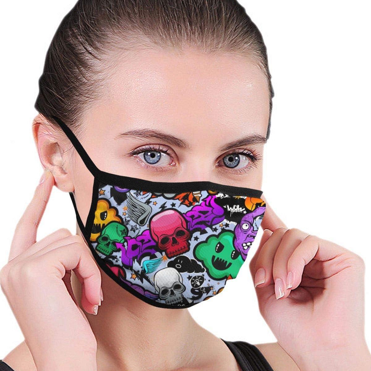 Ladion Hexagon PatternMen's Women's Print Warm Washable Reusable Ear Warmer Neck Warmer Construction Mouth Wear