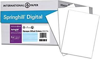 Springhill White Cardstock Paper, 90lb Index, 163gsm, 8.5 x 14 card stock, 8 Reams / 2,500 Sheets - Lightweight Cardstock with Smooth Finish (015114C)