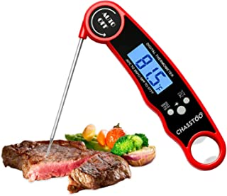 CHASSTOO Meat Thermometer, Digital Food Thermometer Probe, Instant Read Cooking Kitchen Thermometer with °F/°C Switch, IP6...