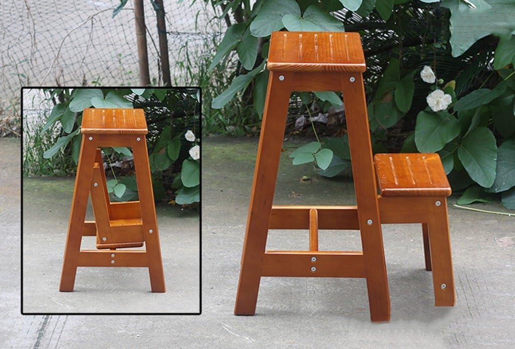 Petit support en bois d'intérieur de tabouret pliable d'échelle de 2 niveaux d'échelle pour le balcon de salon (Couleur : B) A