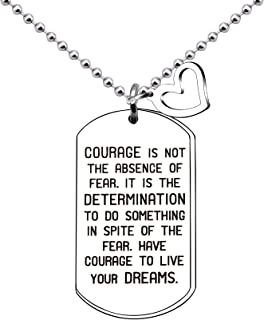 Pendant Necklace Courage Inspirational Graduation 2019 Gift Son Daughter Engraved Dog Tag Spiritual Necklace for Men Women