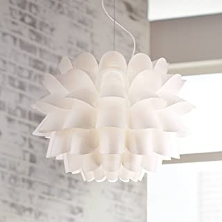 Possini Euro Design White Flower Pendant Chandelier - Possini Euro Design