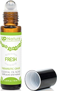 Fresh Essential Oil Roll On - Orange & Lemon Citrus Blend - Clean, Revitalizing Bliss - Stay Motivated & Refreshed - Easy Application - High-Quality - Leak-Proof Rollerball - No Diffuser Needed!