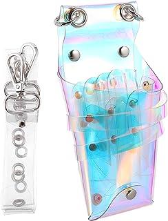 Lurrose Barbeiro Cabelo Tesoura Coldre Portátil Saco Da Cintura Bolsa Com Cintura Ombro Belt Bolsa De Cabeleireiro Tesoura...
