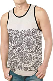 Ocean Decor New All Over Print Tank Top,Relax Beach Resort Spa Palm Trees and Sea for Home,S