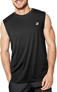 Sleeveless Shirts for Men Quick Dry Workout Athletic Performence T Shirts Running, Basketball and Gym Tank Tops
