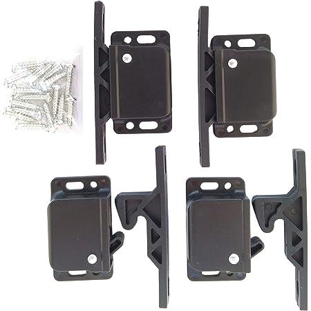 SPRING ROCKER CATCHES X 10 Black Motorhome Cabinet//Cupboard Door Latch Fastener