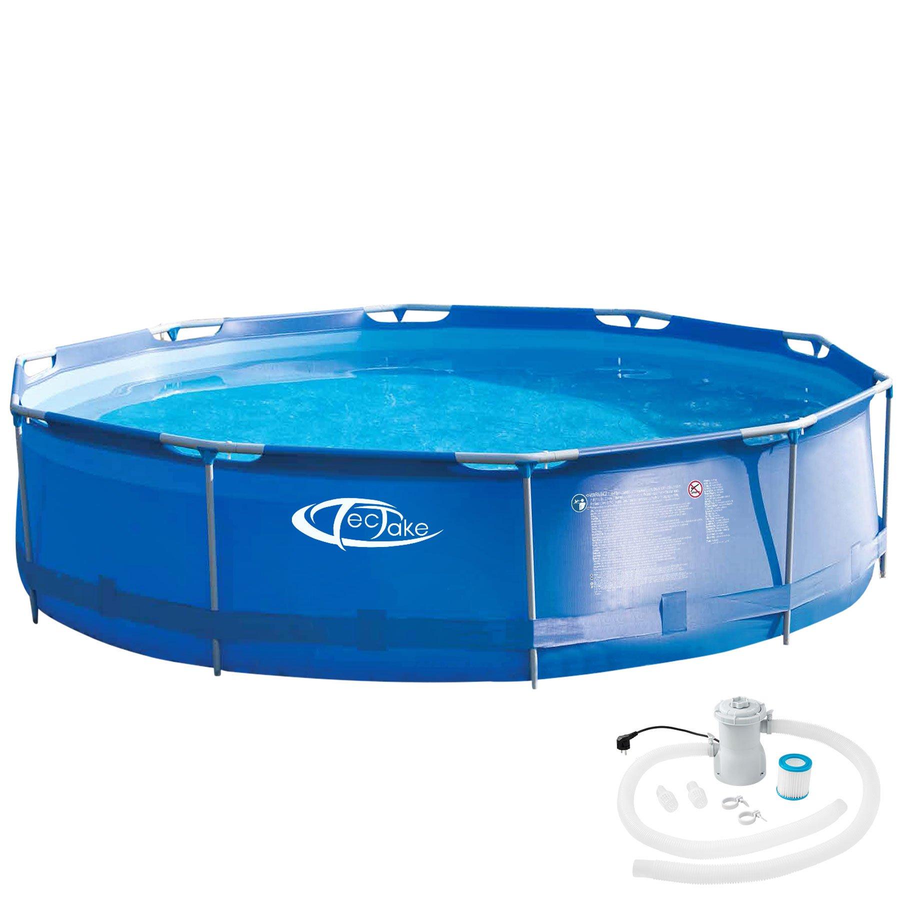 TecTake 800580 Piscina Desmontable, Swimming Pool, Tejido de PVC ...