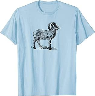 Mountain goat mountain sheep logo t-shirt