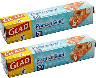 Glad Pressn Seal Wrap, Christmas Special Design, 140 Square Foot Total