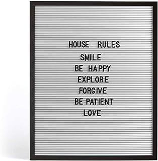 Pizarra de letras, 50 x 40 cm, 145 letras (para colgar en la pared, tablón de anuncios, noticias, color blanco)