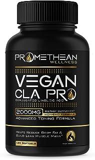 Vegan CLA Pro 2000 mg Pure Premium CLA Safflower Oil Conjugated Linoleic Acid Best Belly Fat Burner Weight Loss Supplement...