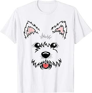 Westie Dog Face Cute T- Shirt