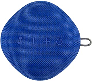 Coby True Wireless Bluetooth Speaker w/Mic | Loud HD Sound | IPX5 Waterproof for Camping, Shower, Travel, Beach Listening | 12 Hours of Music |Compact, Portable, and Rechargeable (Blue)