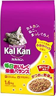 カルカン ドライ かつおと野菜味 キャットフード 成猫用 1.6kg