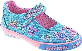 4b398ece391f7 Lelli Kelly LK9082 (GO01) Turquoise Glitter Summer Butterfly Dolly Shoes-28  (UK