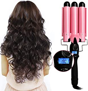 Hair Curler 3 Barrel Curling Hair Waver Iron Curling Wands Quick Heated Fast Heating Ceramic Hot Tools Professional Hairst...