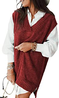 GOSOPIN Women Loose Open Front Knit Chunky Cardigan Sweater with Pockets