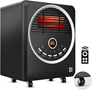 Space Heater -1500W Portable Heater with 4 wheels, 3 Heating Modes, Tip-Over and Overheat Protection, Quiet, Timer, Adjustable Thermostat, Remote Control Electric Heater for Warming Up the Home/Office