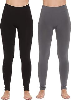 Just Love Fleece Lined Seamless Leggings for Women High Waist (Pack of 2)