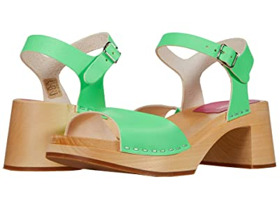 Swedish Hasbeens Basic Sandal (Neon Green) Women