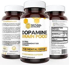 Natural Stacks: Dopamine - Brain Food Supplement - 30 Day Supply - Neurotransmitter Support - Improve Brain Health - Increase Mental Performance - Reduce Brain Fog