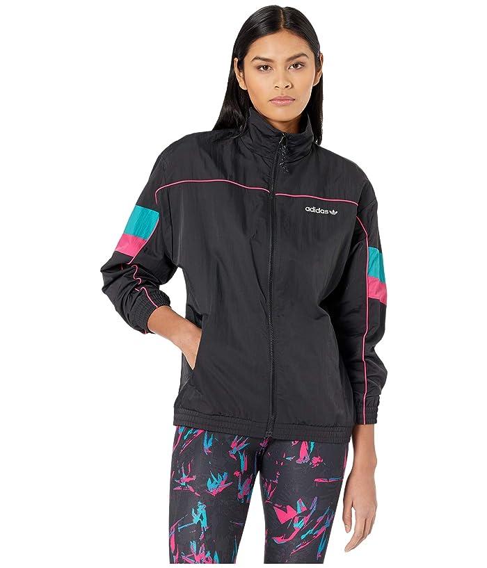 80s Windbreakers, Jackets, Coats adidas Originals Tech Track Top Black Womens Coat $55.99 AT vintagedancer.com