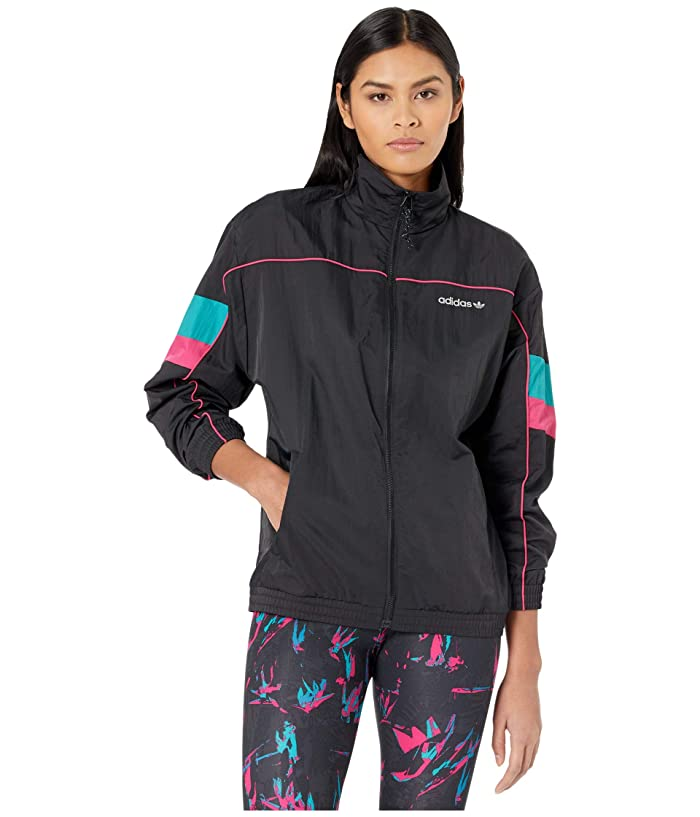 1980s Clothing, Fashion | 80s Style Clothes adidas Originals Tech Track Top Black Womens Coat $55.99 AT vintagedancer.com