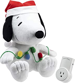 Hallmark 6MJC3031 Snoopy Christmas Tree Remote with Sound, Wireless, Includes Receiver, White, Red, Green, Multicolor