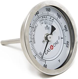 GasOne 30200 Brewing Stainless Steel Thermometer with Washer and O-Ring Complete Kit Homebrew Kettle, Stainless Steel, Stainless Steel