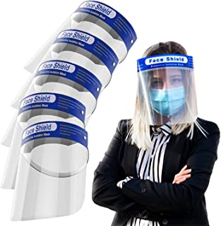 Katzco Reusable Face Shields - Clear Full Face Visor Mask with Removable Protective Film - Face and Head Co...